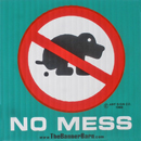 No Dog Mess Sign