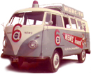 Old Channel 6 VW Van Painted by Art Sign